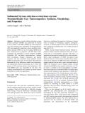 "Báo cáo hóa học: "" Sulfonated Styrene-(ethylene-co-butylene)-styrene/ Montmorillonite Clay Nanocomposites: Synthesis, Morphology, and Properties"""