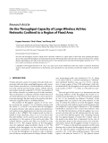 """Báo cáo hóa học: """"  Research Article On the Throughput Capacity of Large Wireless Ad Hoc Networks Confined to a Region of Fixed Area"""""""