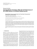 "Báo cáo hóa học: "" Research Article How Equalization Techniques Affect the TCP Performance of MC-CDMA Systems in Correlated Fading Channels"""