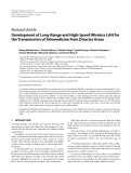 """Báo cáo hóa học: """" Research Article Development of Long-Range and High-Speed Wireless LAN for the Transmission of Telemedicine from Disaster Areas"""""""