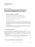 """Báo cáo hóa học: """" Research Article Weak and Strong Convergence Theorems for Nonexpansive Mappings in Banach Spaces"""""""