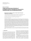 """Báo cáo hóa học: """" Research Article Design and Performance Evaluation of an Adaptive Resource Management Framework for Distributed Real-Time and Embedded Systems"""""""