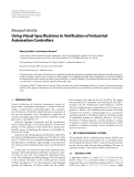 "Báo cáo hóa học: "" Research Article Using Visual Specifications in Verification of Industrial Automation Controllers"""