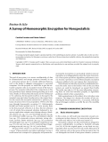 """Báo cáo hóa học: """" Review Article A Survey of Homomorphic Encryption for Nonspecialists"""""""