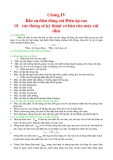 Chương IV: Khí cụ điện đóng cắt điện áp cao
