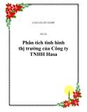 Đề tài: Phân tích tình hình thị trường của Công ty TNHH Hasa