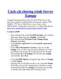 Cách cài chương trình Server Xampp