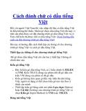 Cách đánh chữ có dấu tiếng Việt