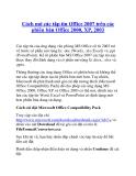 Cách mở các tập tin Office 2007 trên các phiên bản Office 2000, XP, 2003