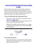 Cách tìm kiếm hình ảnh trên Internet bằng Google