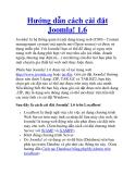 Hướng dẫn cách cài đặt Joomla! 1.6