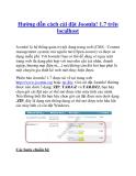 Hướng dẫn cách cài đặt Joomla! 1.7 trên localhost