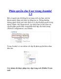 Phân quyền cho User trong Joomla! 1.5