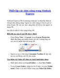 Thiết lập các chức năng trong Outlook Express