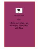 Đề tài : Chiến lược nhân  lực  ở công ty vận tải BIC Việt Nam