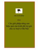 Đề tài:  Các giải pháp nâng cao hiệu quả của kinh phí trợ giá cho xe buýt ở Hà Nội