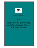 Đề tài tốt nghiệp: Nâng cao hiệu quả sử dụng người lao động của công ty điện thoại Hà Nội