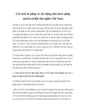 Cải cách tư pháp và xây dựng nhà nước pháp quyền xã hội chủ nghĩa Việt Nam