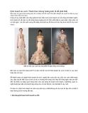 Kinh doanh áo cưới: Thách thức khủng hoảng kinh tế để phát triểnNếu bạn có