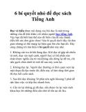 6 bí quyết nhỏ để đọc sách Tiếng Anh