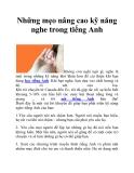 Những mẹo nâng cao kỹ năng nghe trong tiếng Anh