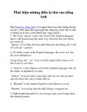 Phát hiện những điều kì thú của tiếng Anh