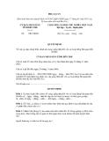 MẪU QUYẾT ĐỊNH Về việc gia hạn (hoặc điều chỉnh nội dung) giấy phép đối với các hoạt động liên quan đến đê điều