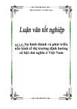 Đề án: Sự hình thành và phát triển nền kinh tế thị trường định hướng xã hội chủ nghĩa ở Việt Nam