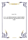 Đề tài:  SỰ HÌNH THÀNH VÀ PHÁT TRIỂN CỦA NỀN KINH TẾ THỊ TRƯỜNG Ở VIỆT NAM