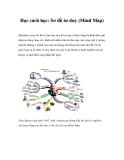 Học cách học: Sơ đồ tư duy (Mind Map)