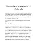 Kinh nghiệm thi New TOEIC: lưu ý kỹ năng nghe