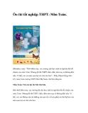 Ôn thi tốt nghiệp THPT: Môn Toán