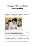 Tốt nghiệp THPT: cách thi trắc nghiệm môn Sinh