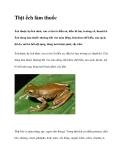 Thịt ếch làm thuốc