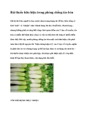 Bài thuốc hữu hiệu trong phòng chống táo bón
