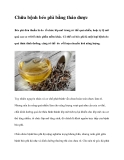 Chữa bệnh béo phì bằng thảo dược