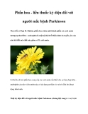 Phấn hoa - liều thuốc kỳ diệu đối với người mắc bệnh Parkinson