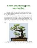 Bonsai các phương pháp truyền giống