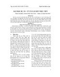 DẠY HỌC DỰ ÁN – TỪ LÍ LUẬN ĐẾN THỰC TIỄN
