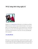 10 kỹ năng của thời công nghệ số