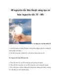 40 nguyên tắc thủ thuật sáng tạo cơ bản (nguyên tắc 31 - 40)