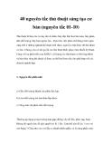 40 nguyên tắc thủ thuật sáng tạo cơ bản (nguyên tắc 01-10)