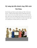 Kỹ năng đạt đến thành công: Biết cách bán hàng