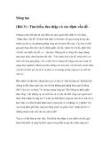 Sáng tạo (Bài 3) : Tìm hiểu, thu thập và xác định vấn đề
