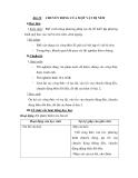 Bài 18: I.Mục tiêu:CHUYỂN ĐỘNG CỦA MỘT VẬT BỊ NÉM