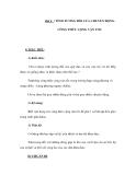 Bài 6 : TÍNH TƯƠNG ĐỐI CỦA CHUYỂN ĐỘNG. CÔNG THỨC CỘNG VẬN TỐC