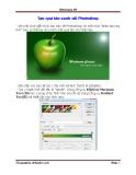 Tạo quả táo xanh với Photoshop