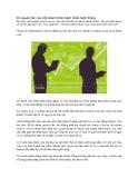 56 nguyên tắc của một doanh nhân bách chiến bách thắng