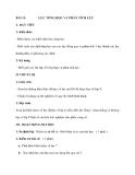 BÀI 13. LỰC TỔNG HỌC VÀ PHÂN TÍCH LỰC