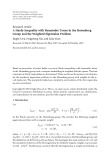 """Báo cáo hóa học: """"Research Article A Hardy Inequality with Remainder Terms in the Heisenberg Group and the Weighted Eigenvalue Problem"""""""